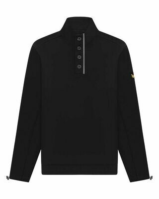 Lyle & Scott | Button Sweater | Jet Black