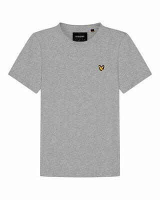 Lyle & Scott | Plain T-Shirt | Light Grey Marl