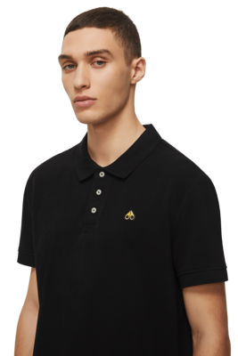 Moose Knuckels | Gold Polo Shirt | Black