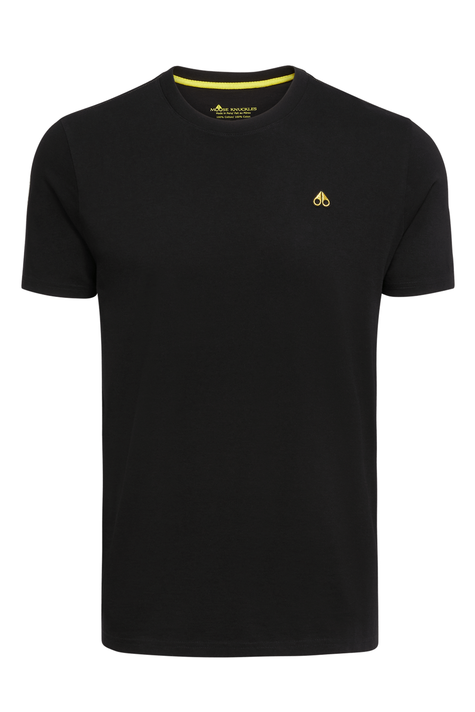 Moose Knuckles   Classic Logo Tee   Black