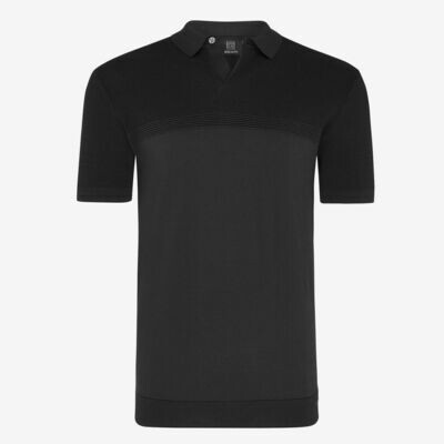 Genti | Polo SS Knit | Black