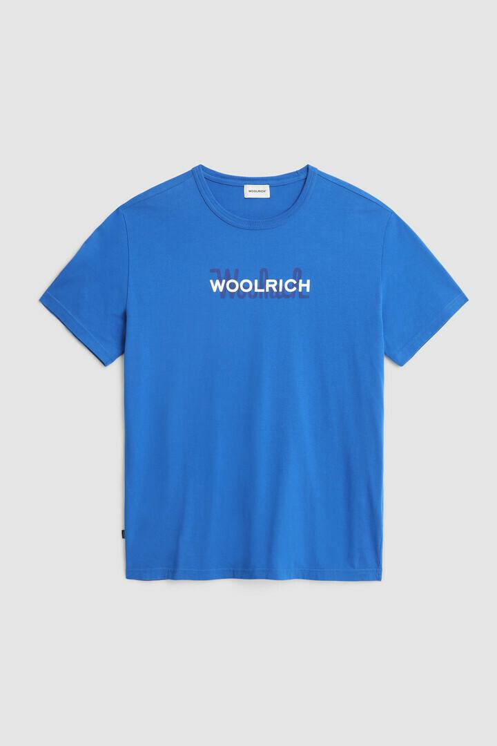 Woolrich | Shirt Macro Cotton Tee | Ocean Blue