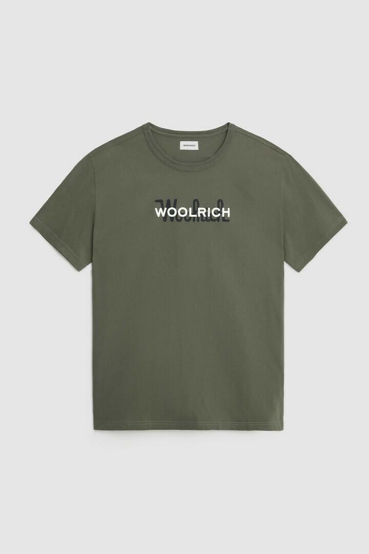 Woolrich | Shirt Macro Cotton Tee | Fishing Green