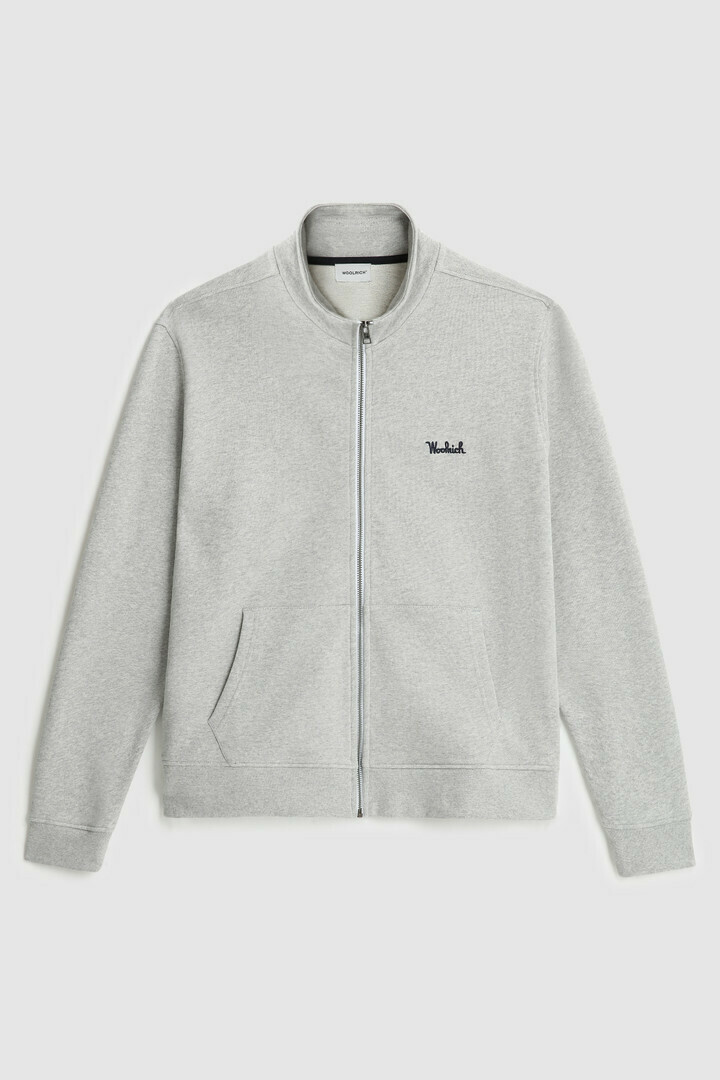 Woolrich | track sweater | Light Grey Melange