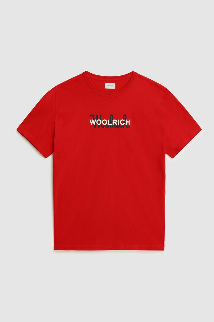 Woolrich   Shirt Macro Cotton Tee   Marine Scarlet