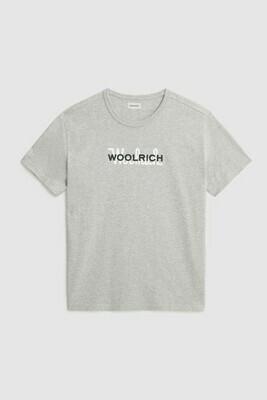 Woolrich | Shirt Macro Cotton Tee | Light Grey Melange