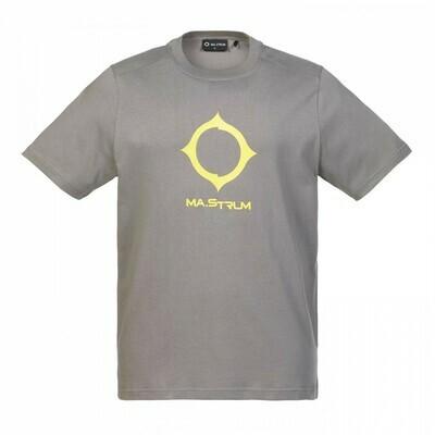 Mastrum | SS Distort Logo Tee | Dark Slate