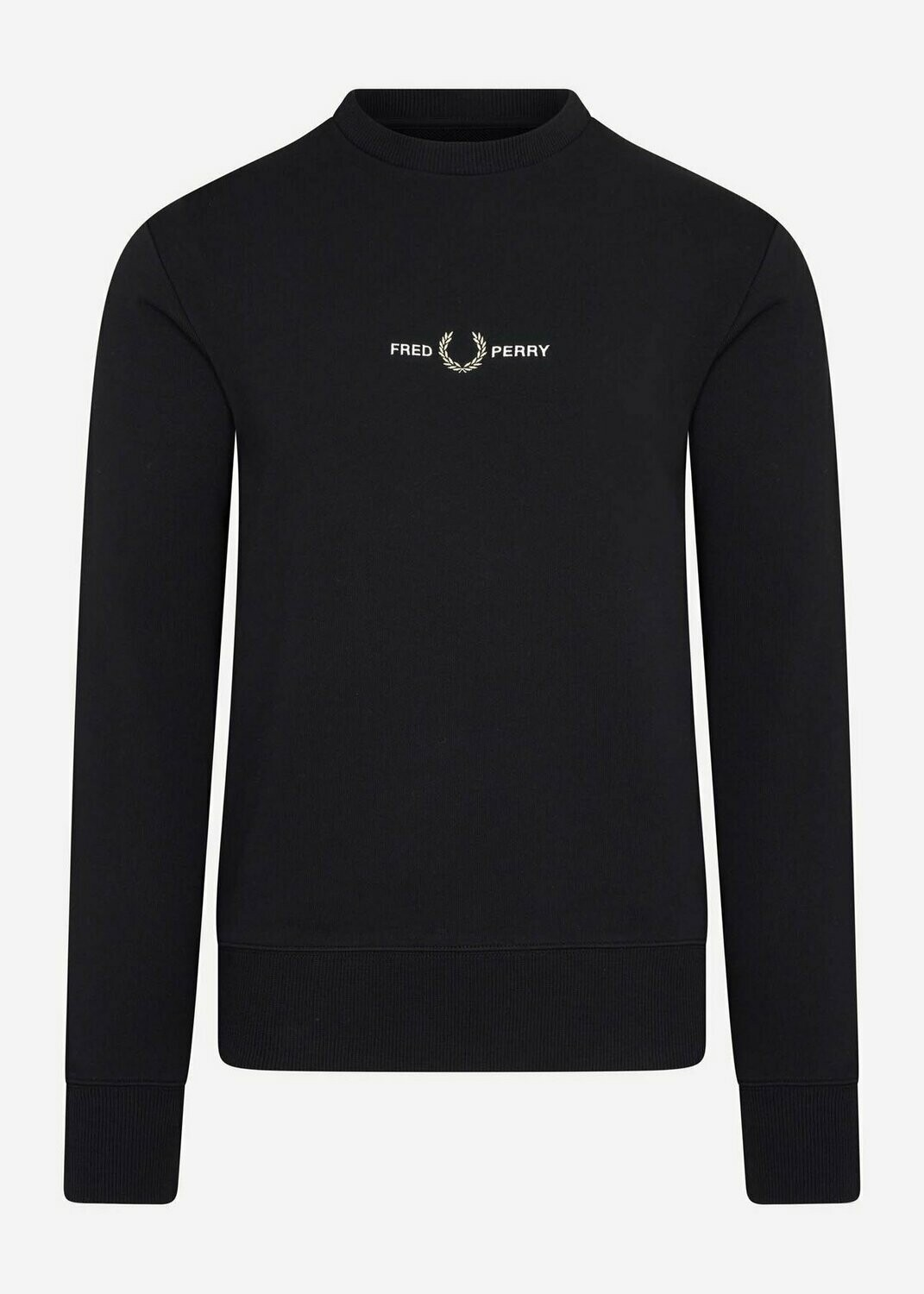Fred Perry | Sweatshirt Embroidered | Black