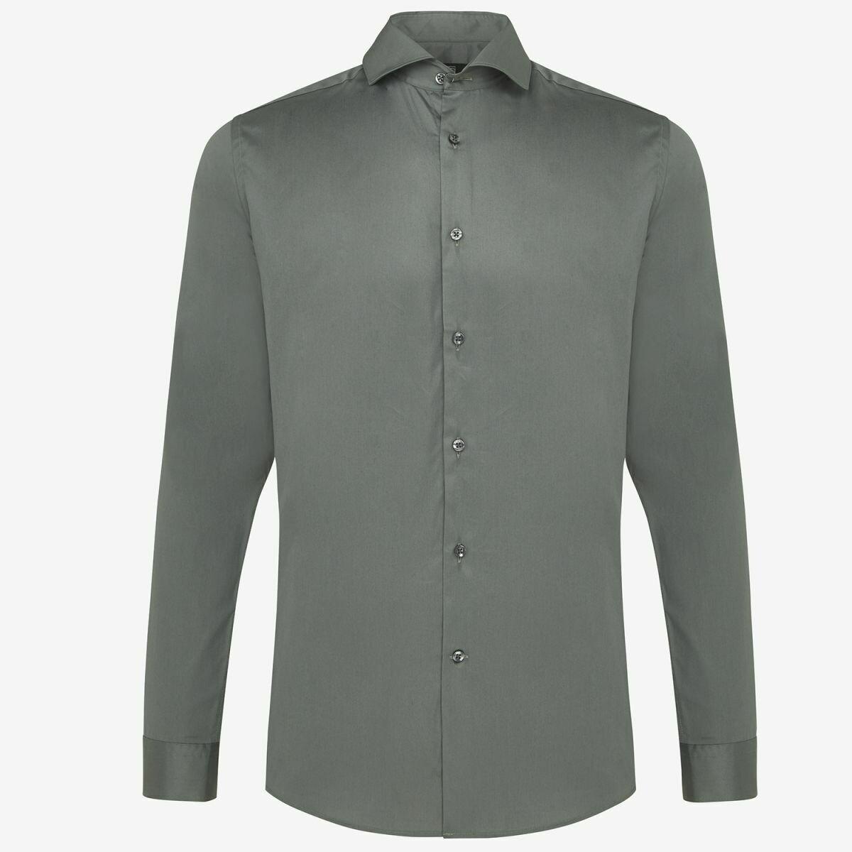 Genti | Skin Fit Overhemd | Blue Green