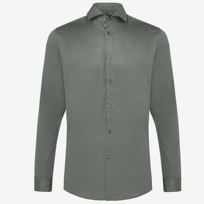 Genti   Skin Fit Overhemd   Lichtgroen