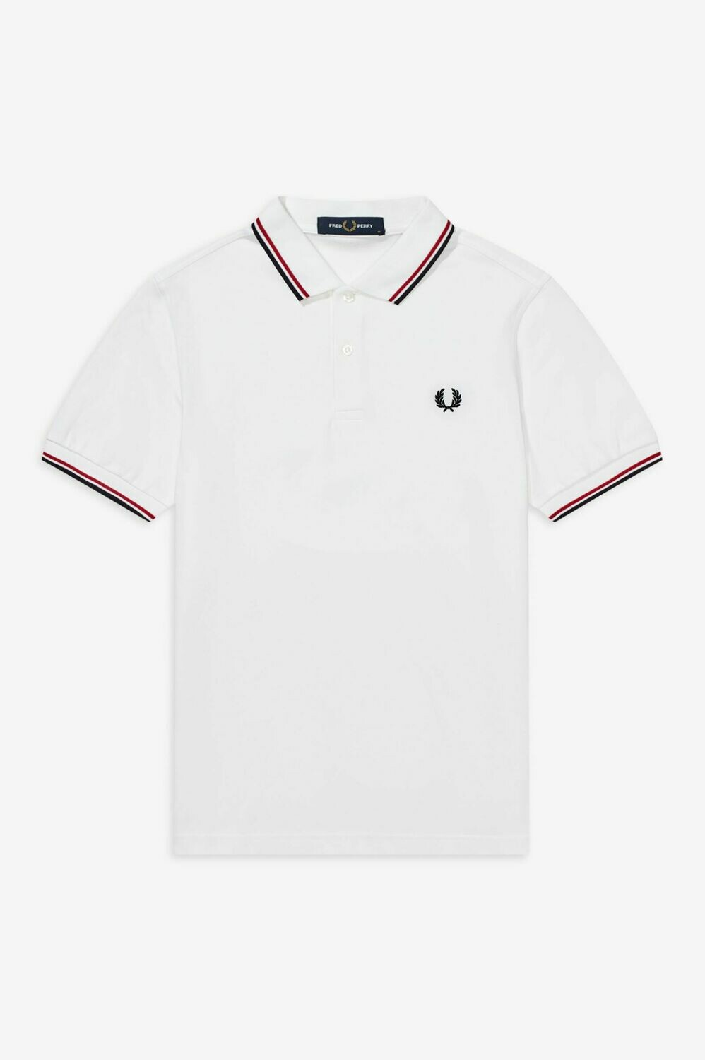 Fred Perry | Twin Tipped Polo | White