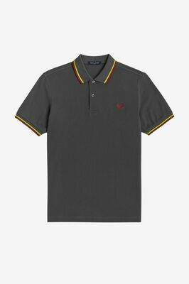Fred Perry | Twin Tipped Polo | Gunmetal