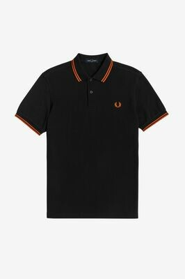 Fred Perry | Twin Tipped Polo | Black Rust