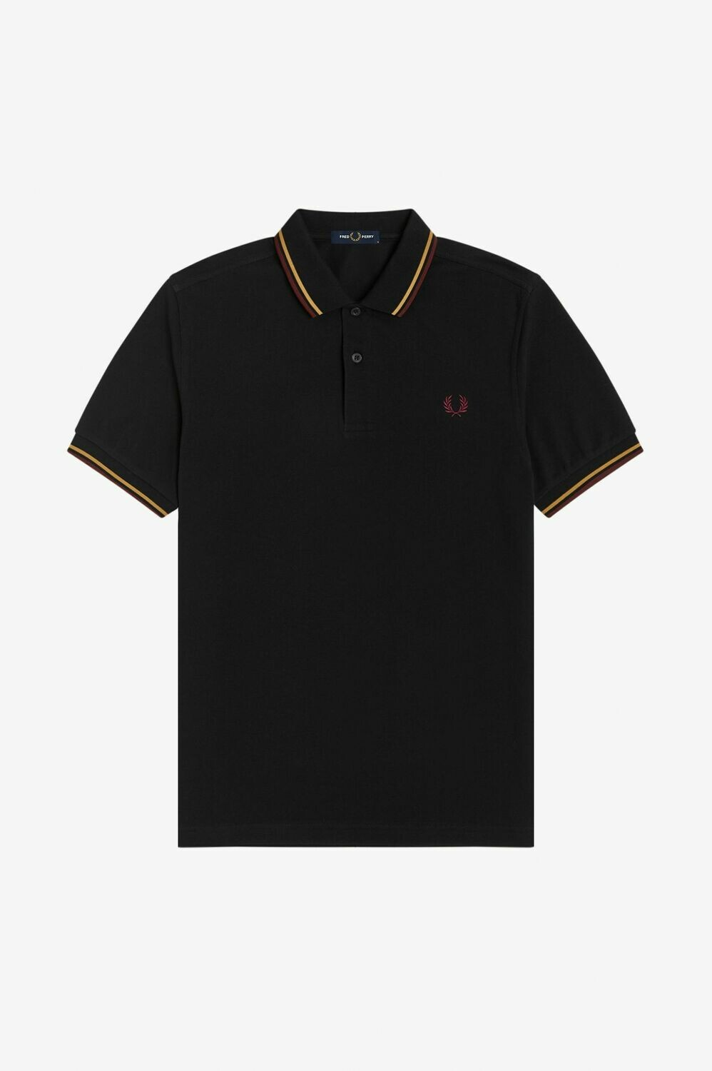 Fred Perry | Twin Tipped Polo | Black Gold