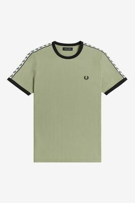 Fred Perry | Taped Ringer T-Shirt | Seagrass