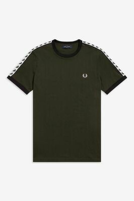 Fred Perry | Taped Ringer T-Shirt | Hunting Green