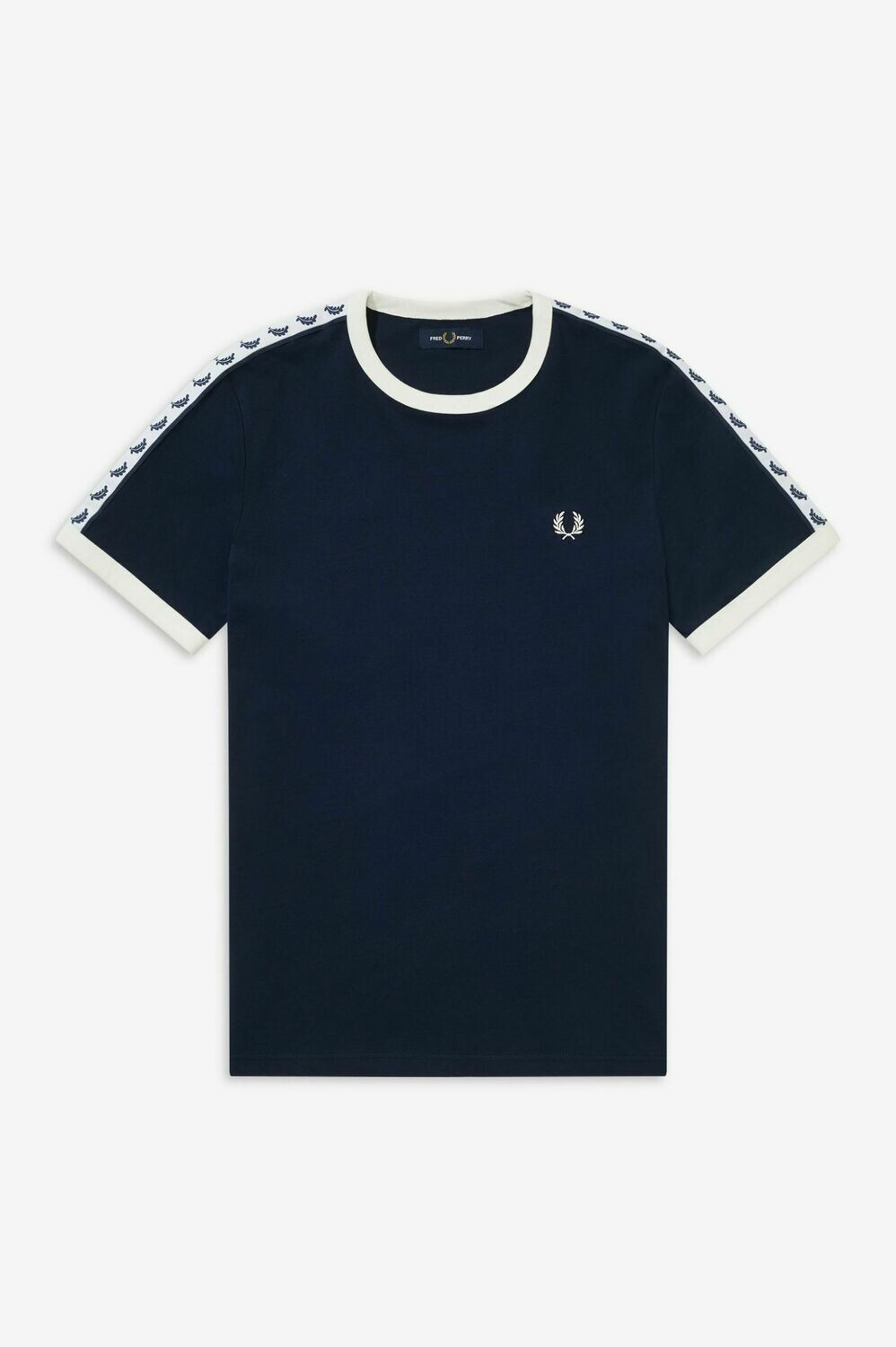 Fred Perry | Taped Ringer T-Shirt | Carbon Blue