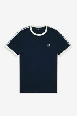 Fred Perry | Taped Ringer T-Shirt | Black