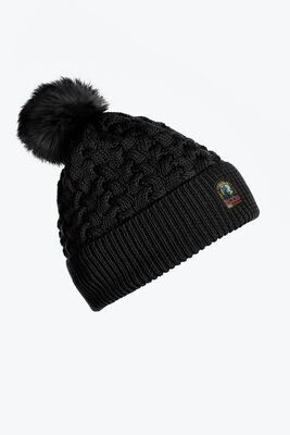 PARAJUMPERS   TRICOT HAT   BLACK