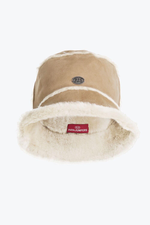 PARAJUMPERS | SHEARLING BUCKET HAT | MASTIC