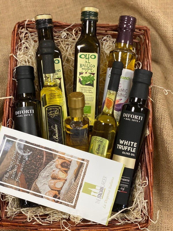 Italian Infused Oil Selection Basket