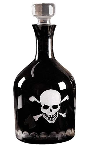 Decanter Skull & Cross Bones