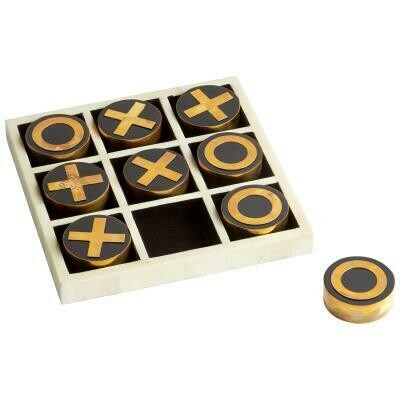 Tic Tac Toe Brass/Bone