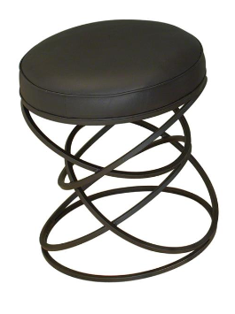 Ring Stool Leather/Metal
