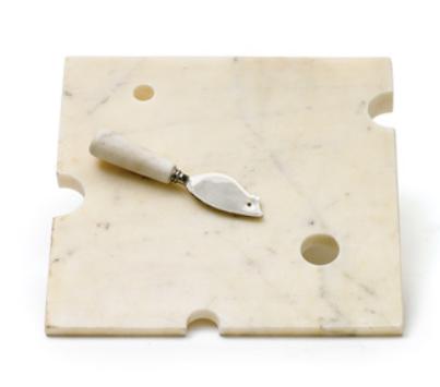 Cutting Board Hunk of Cheese w/knife