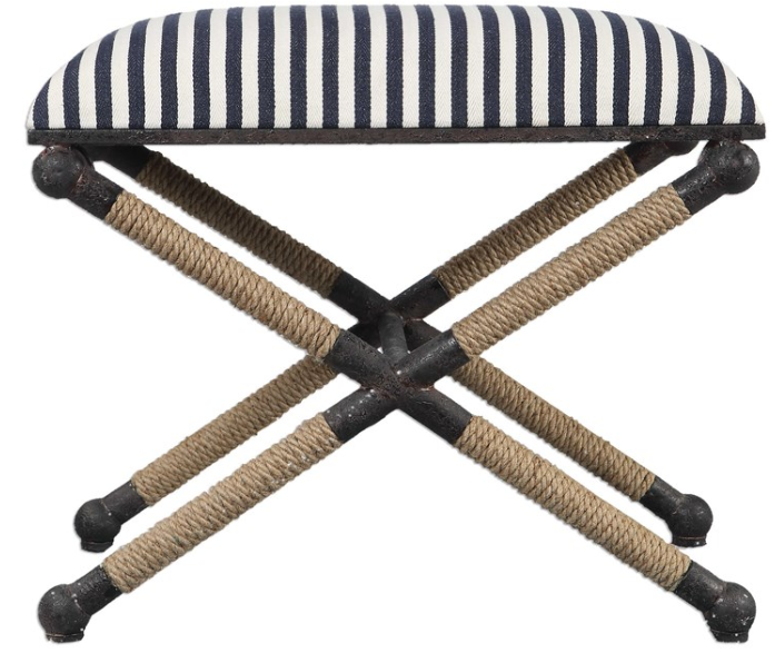 Small Striped Ottoman