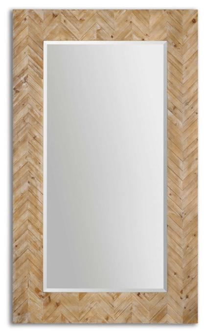 Chevron Floor Mirror