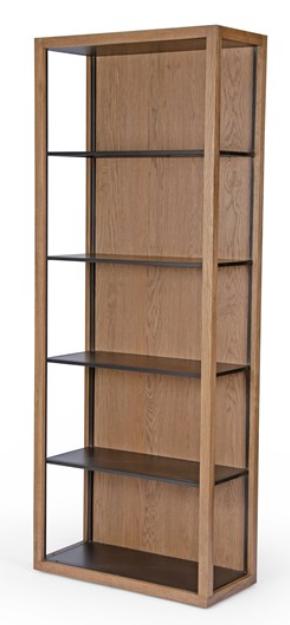 Oak & Iron Bookcase