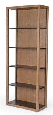 Oak & Iron Bookcase