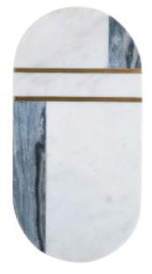 Marble & Brass Cutting Board