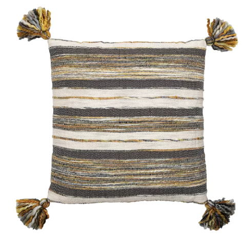 Textured Cotton Woven Pillow