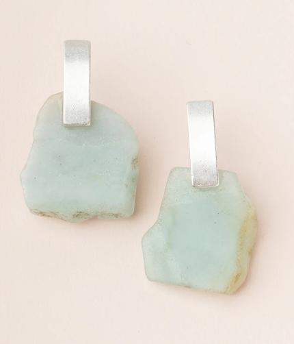 Stone Slice Earrings