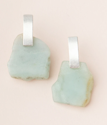 Stone Slice Earrings