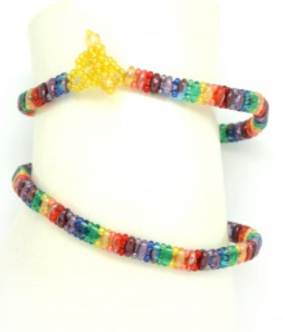 Rainbow Bracelet Duo Bead
