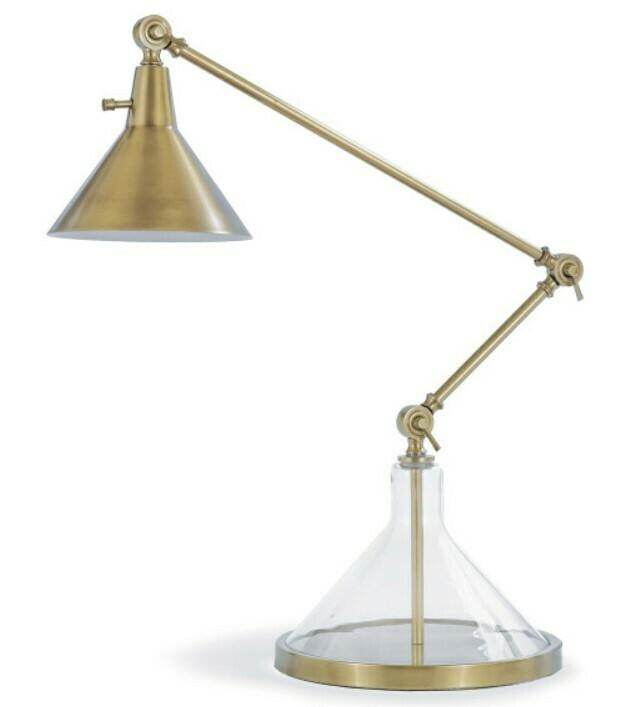Brass & Glass Task Lamp