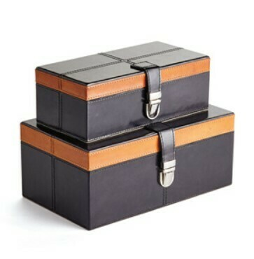 Leather Boxes Set/2