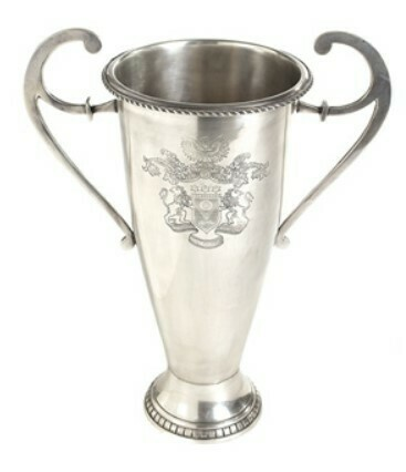 Tall Nickel Etched & Polished Trophy