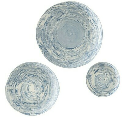 Marbleized Wall Bowls s/3