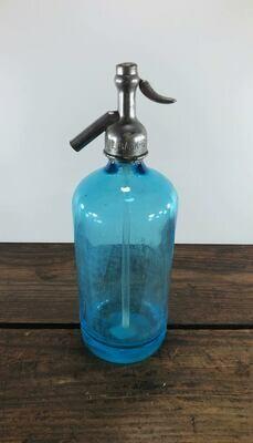Vintage Al Backerman Seltzer Bottle - Blue