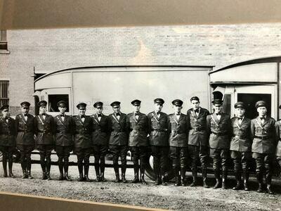 Vintage Men In Uniform Photo