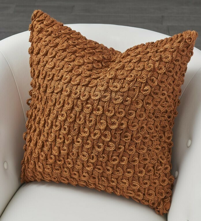 Rust Loop Pillow