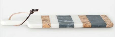 Multi Stripe Marble Cutting Board