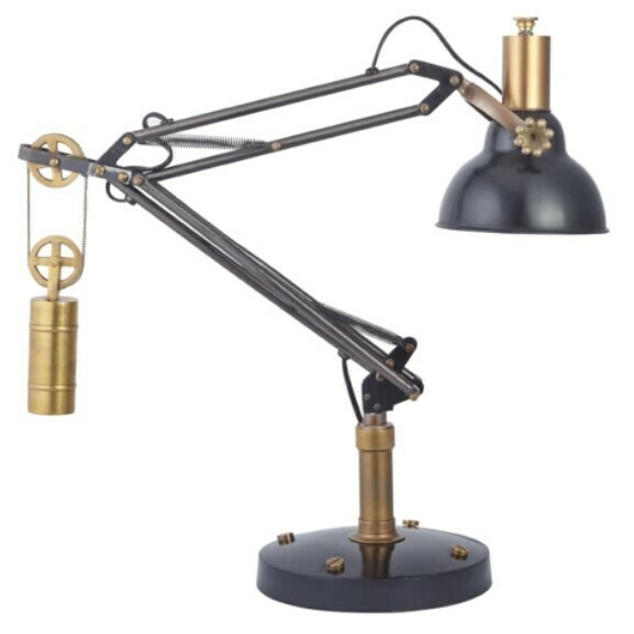 Black & Brass Table Lamp