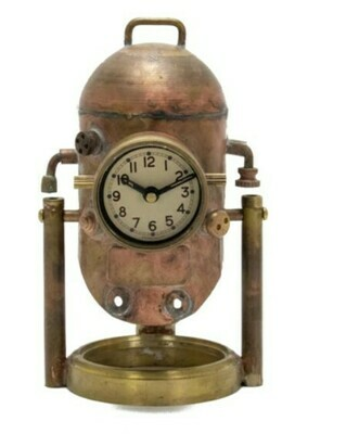 Diver Helmet Desk Clock