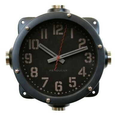 Navy Master Wall Clock Black