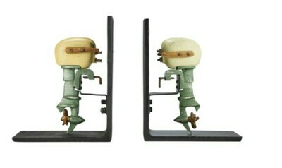 Outboard Motor Bookends Painted